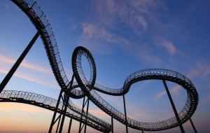 Amusement roller coaster ride
